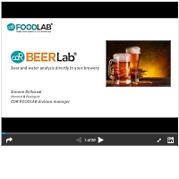 Beer and water analysis directly in your brewery