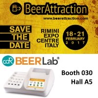 CDR BeerLab®, chemical analysis system for beer, at BeerAttraction 2017- Rimini Italy 18 / 21 February - Booth 030 Hall A5