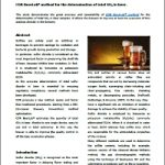 Papare on so2 determination method in beer with CDR BeerLab®